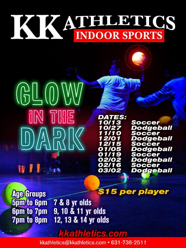 GLOW DODGEBALL | KK Athletics Indoor Sports