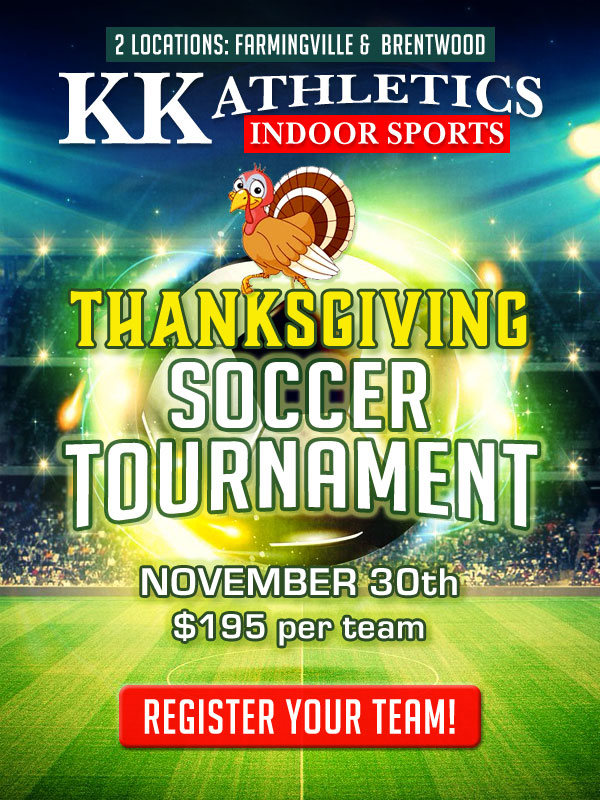 KK Athletics Thanksgiving Tournament November 30th